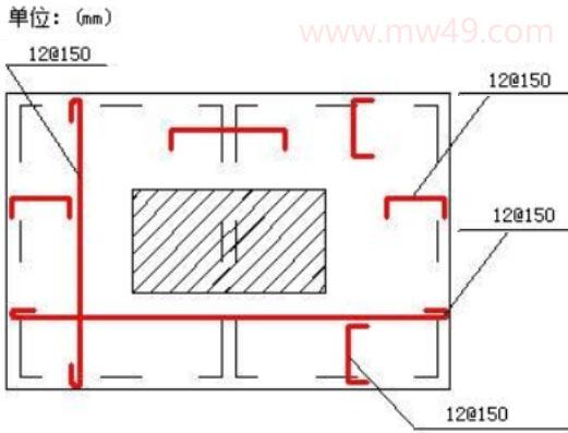 升降机基础施工配筋结构图