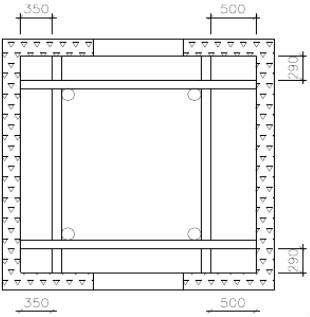 曳引式电梯脚手架,单井字式单立管