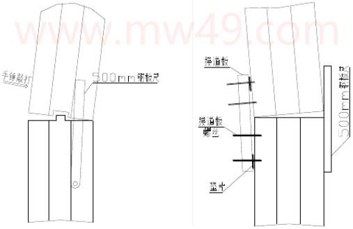 曳引式电梯安装 - 导轨接头部调正